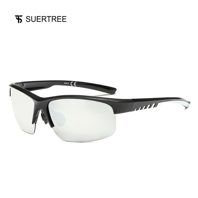 SUERTREE Sport Polarized Sunglasses Men Outdoor Mountain Fishing Sun Glasses MTB Driving Eyewear UV400 JH6004