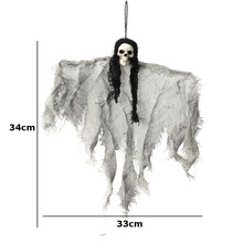 Creepy Hanging Linen Ghost Skull Bar Club Halloween Decoration