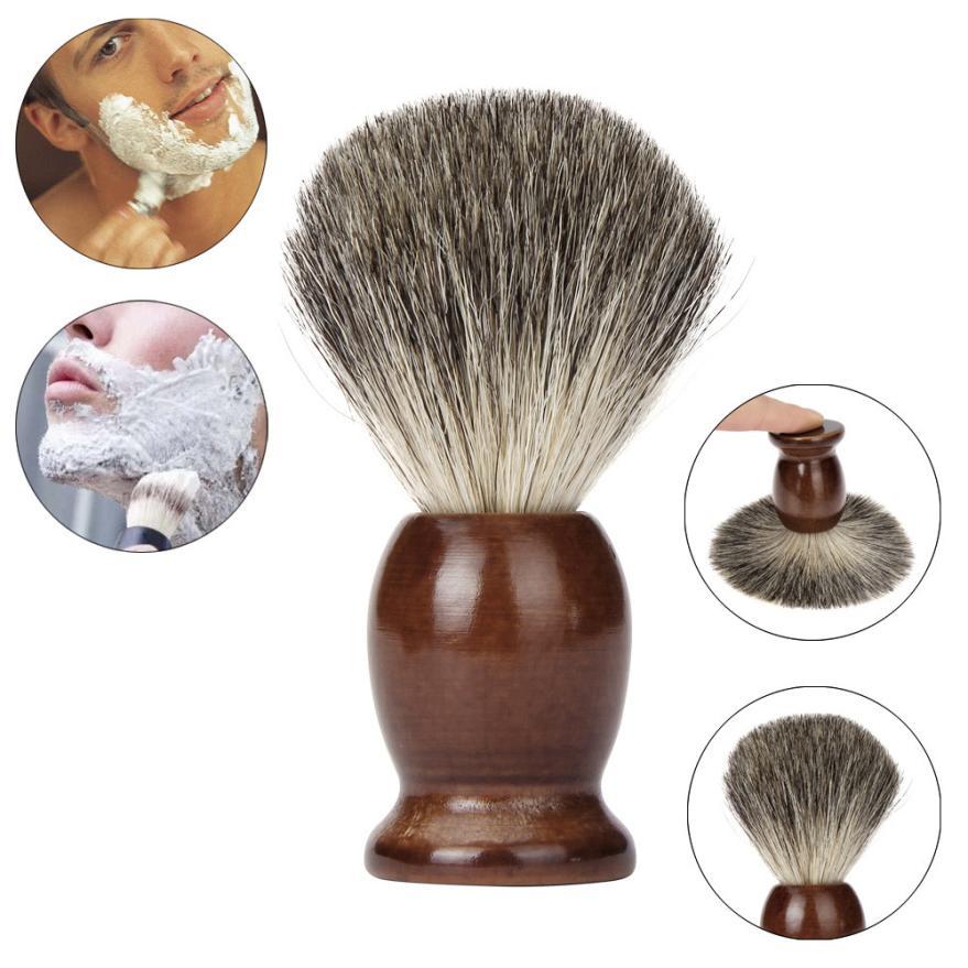 Fashion Brand Badger hair Men Shaving Brush Traditional with wood Shaving Mug Cup Bowl combination Levert Dropship 3MAR29 1