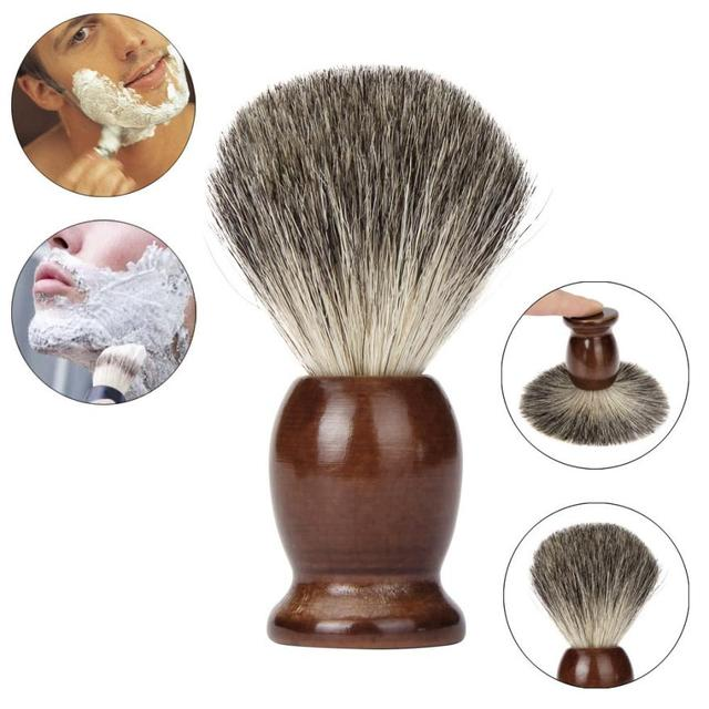 Fashion Brand Badger hair Men Shaving Brush Traditional with wood Shaving Mug Cup Bowl combination Levert Dropship 3MAR29 1
