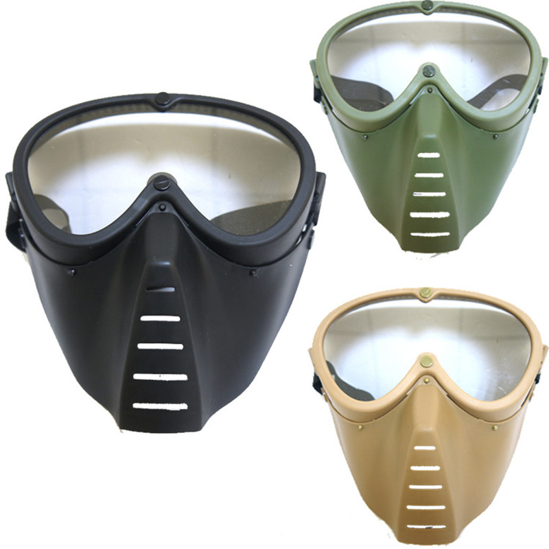 Littie Bee Shap Tactical Mask with 1 pc Cleaner Cloth Protective Mirror Face Mask for Nerf Toy Gun Game Rival Outdoor CS mask protective outdoor war game military tactical face shield mask page 3