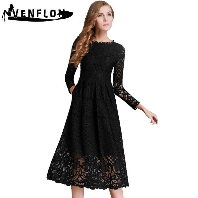 VENFLON Long Spring Summer Dress Women 2019 Elegant Sexy Hol