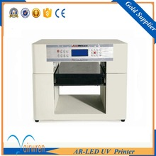 A3 size UV LED printer flatbed inkjet printing machine for wood printing customized add height