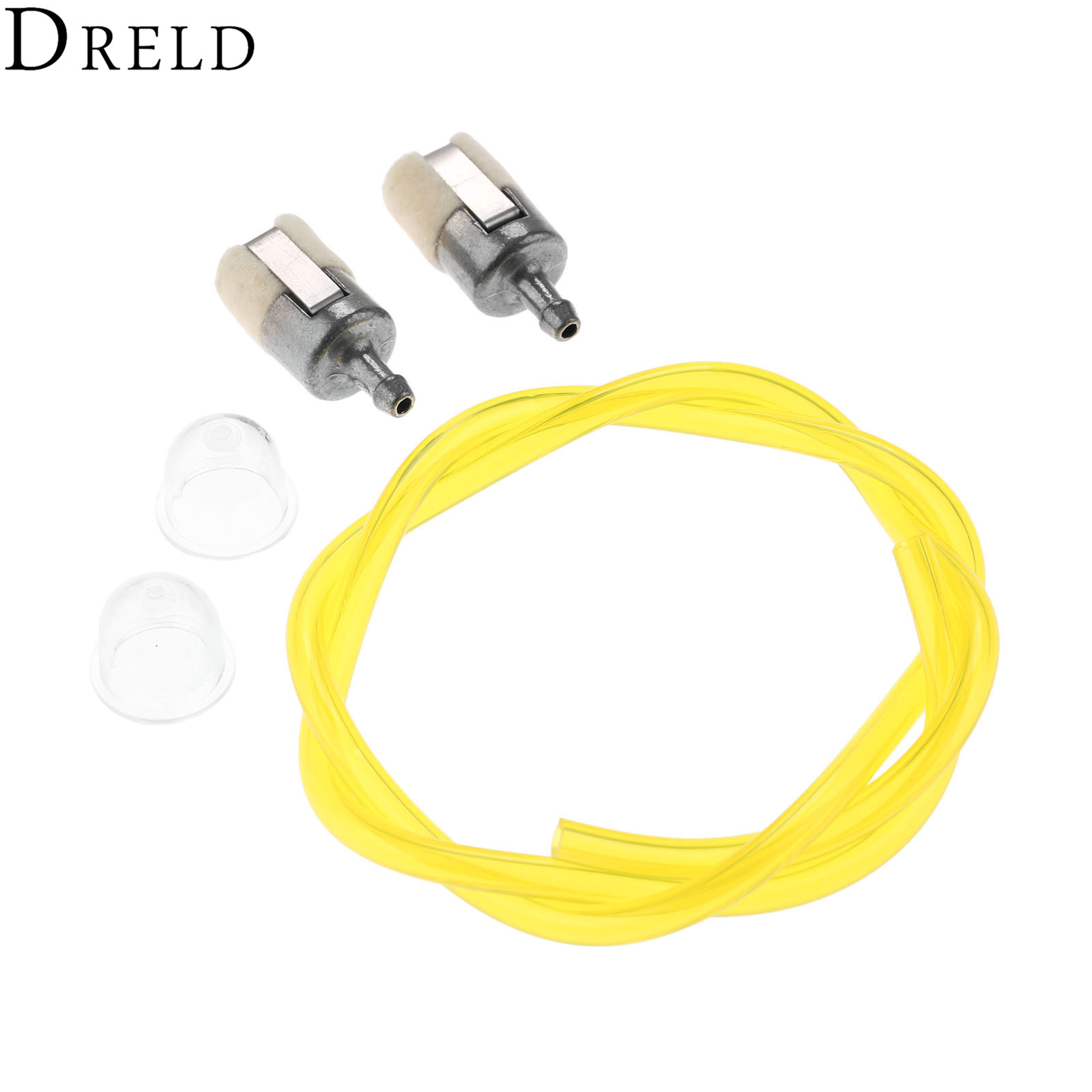 DRELD 5Pcs/set Primer Bulb +Fuel Filter +Fuel Line Hose Tube For HONDA GX22 GX25 GX31 Rototiller String Trimmer Brush Cutter