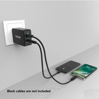 Tutuo 2 ports 5V 5A USB PD wall Charger for iPhone X 8 7 iPad Fast Wall Charger for Samsung S9 iPhones Xiaomi Mi LG Huawei Mobil