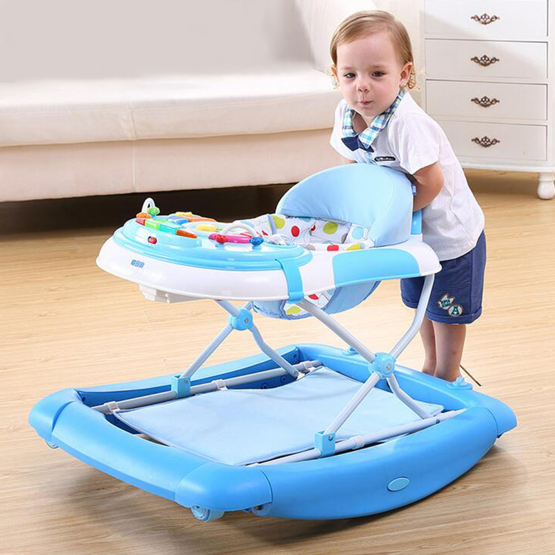 Hot Sale Baby Walker Multifunctional Anti-Rollover Toddler Walk Learning Aid Rocking Horse Dining Game Playing Seat