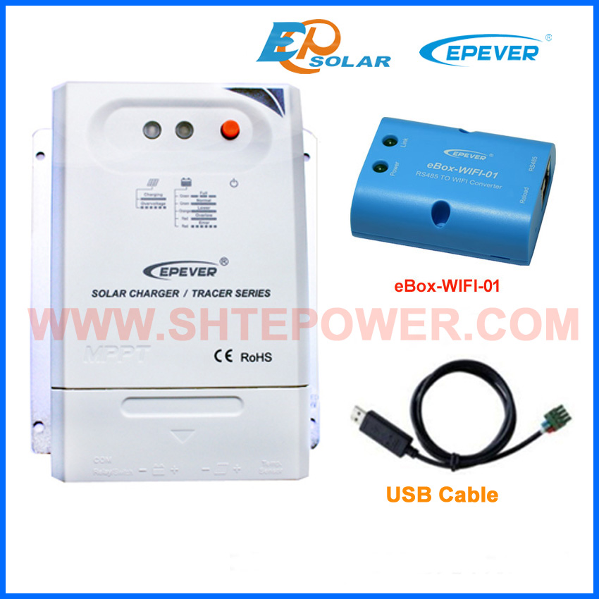 auto voltage solar regulator Tracer3210CN USB communication cable wifi function wifi BOX APP 30A 30amp 12v 24v auto typeauto voltage solar regulator Tracer3210CN USB communication cable wifi function wifi BOX APP 30A 30amp 12v 24v auto type