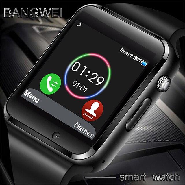 BANGWEI Smart Watch Women SIM TF Push Message Sports Pedometer Digital Smart Watch Camera Bluetooth Connectivity Android Phone