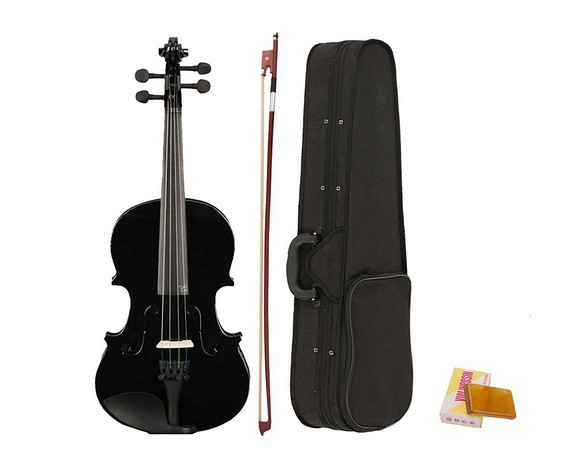 Beginner Violin 4/4  Violino Antique Matt High-grade Handmade Black Acoustic violin Fiddle Case bow rosinBeginner Violin 4/4  Violino Antique Matt High-grade Handmade Black Acoustic violin Fiddle Case bow rosin