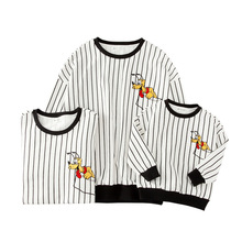 Family clothing family matching outfits sweartershirt striped cotton family matching clothes free shipping