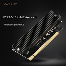 ANDDEAR محول بطاقة M.2 إلى PCIE3.0 الكمبيوتر عالية السرعة التوسع بطاقة X16 الحالة الصلبة محرك محول بطاقة
