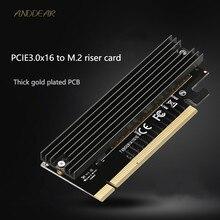 Anddear 어댑터 카드 m.2 pcie3.0 컴퓨터 고속 확장 카드 x16 솔리드 스테이트 드라이브 어댑터 카드