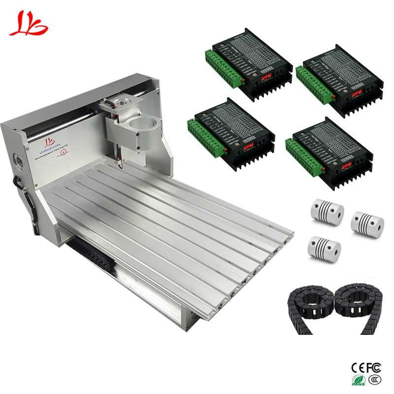 6040 CNC cadre machine de gravure en aluminium table avec vis à billes fin de course interrupteur pour bricolage CNC fraiseuse