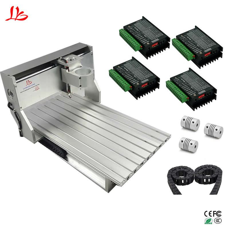 6040 CNC frame engraving machine aluminum table with ball screw limit switch for DIY cnc milling machine