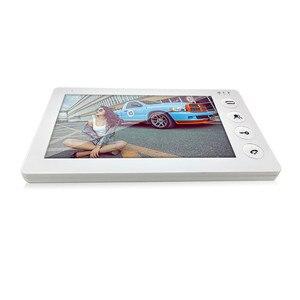 Image 2 - Dragonsview  White Video Intercom System Kit 7 Inch Door Monitor Video Door Phone Intercom 1200TVL Recording 16GB SD card Talk