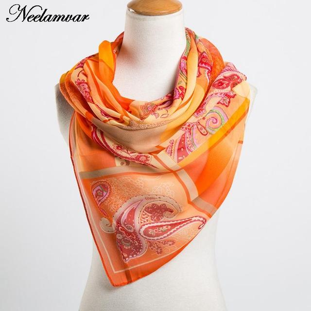 fashion women's chiffon cashew scarves new arrival 2017 Autumn and Winter casual wraps echarpe long silk feeling scarf ladies