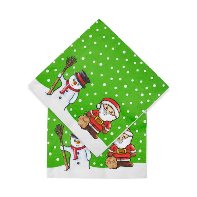 Christmas Napkins.Us 4 74 5 Off 20pcs Merry Christmas Napkins Disposable Tableware Santa Claus Snowman Dot For Home Party New Year In Disposable Party Tableware From