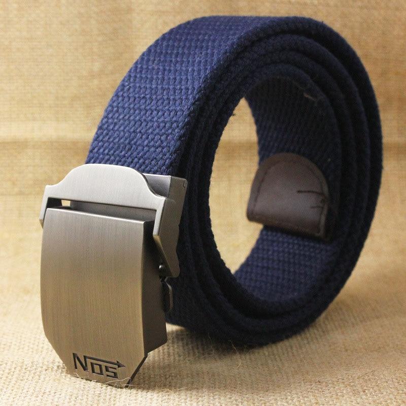 Лучший YBT унисекс тактический ремень, высокое качество, 4 мм, толщина 3,8 см, широкий, Повседневный, Холщовый ремень, для улицы, сплав, автоматическая пряжка, мужской ремень - Цвет: M Dark blue