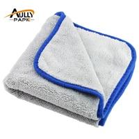 Paño de limpieza de coche, microfibra de felpa súper grueso para el cuidado del coche, toalla de lavado y secado, 800GMS
