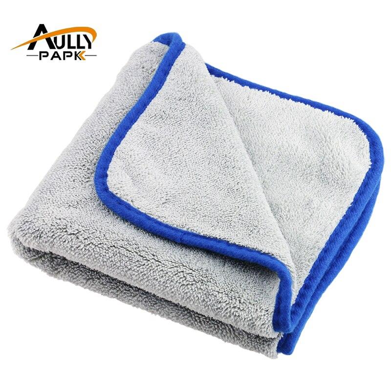 800GMS Auto Pflege Polieren Super Dicken Plüsch Mikrofaser Auto Reinigung Tuch Auto Pflege Mikrofaser Wachs Detaillierung Waschen Trocknen Handtuch