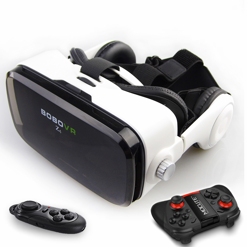 Latest BOBOVR Z4 3D Glasses VR Box Glasses Bluetooth Controller Immersive Virtual Reality Google Cardboard for 4~6″ SmartPhone