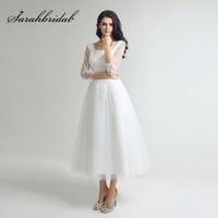 Little White Black Lace Appliques Homecoming Dresses Simple Tulle Tea Length Graduation Party Gowns Cheap Short