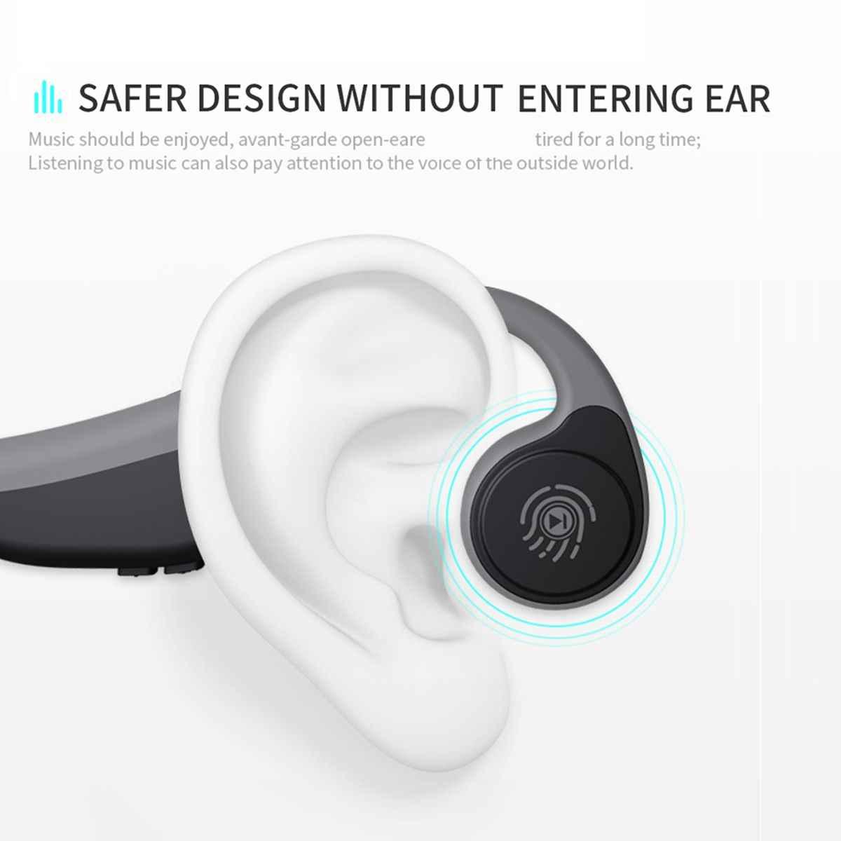 LEORY V9 słuchawki bluetooth 5.0 przewodnictwa kostnego słuchawki bezprzewodowe słuchawki sportowe zestaw głośnomówiący IPX5 wodoodporny bezprzewodowy