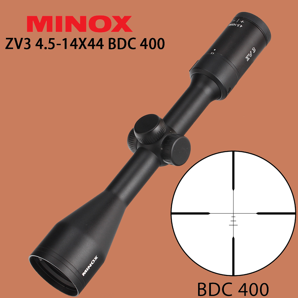 MINOX ZV 3 4 5 14X44 Tactical Optics Sight BDC 400 Riflescope Wire Reticle Side Parallax