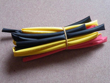 Free Shipping!  10pcs 5mm colored heat shrink tube (red, yellow, black and each one meter)