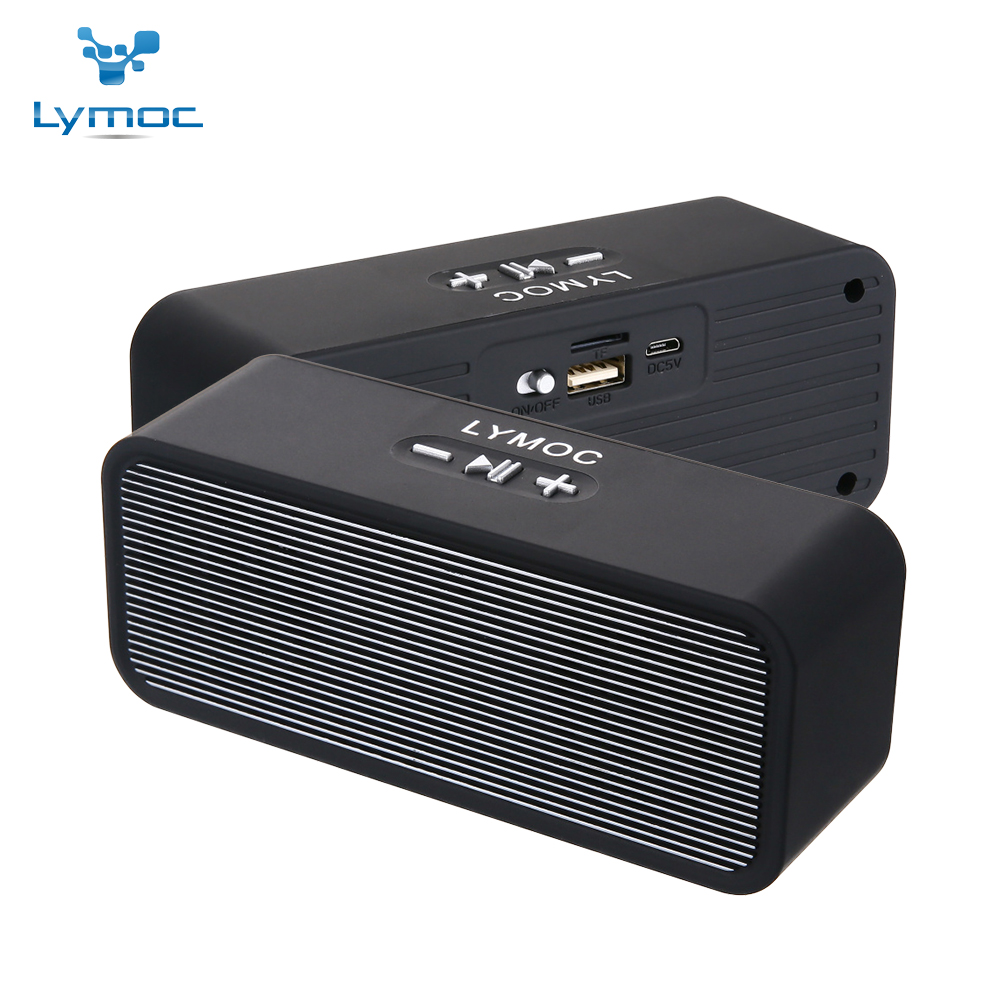 LYMOC Wireless Bluetooth Speakers Stereo Mini Portable Subwoofer Heavy Bass MP3 Music TF Speaker Box HD MIC Handsfree for phone getihu portable mini bluetooth speakers wireless hands free led speaker tf usb fm sound music for iphone x samsung mobile phone