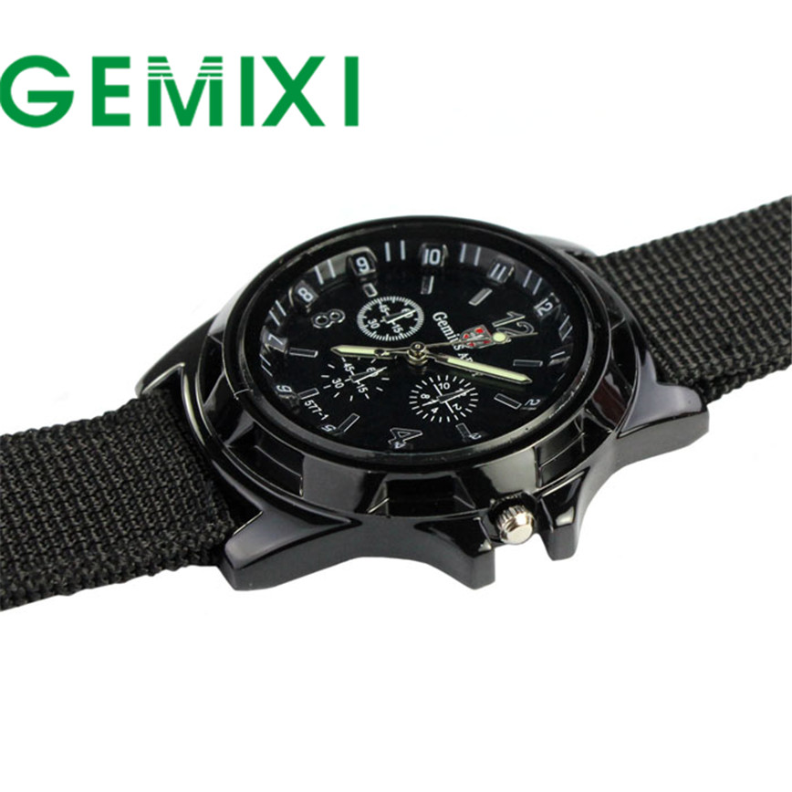 Fantastic 2016 Outdoor Army Style Fashion Sport Watches Gemius Racing Force Military Men Fabric Band Watch relogio masculino недорого