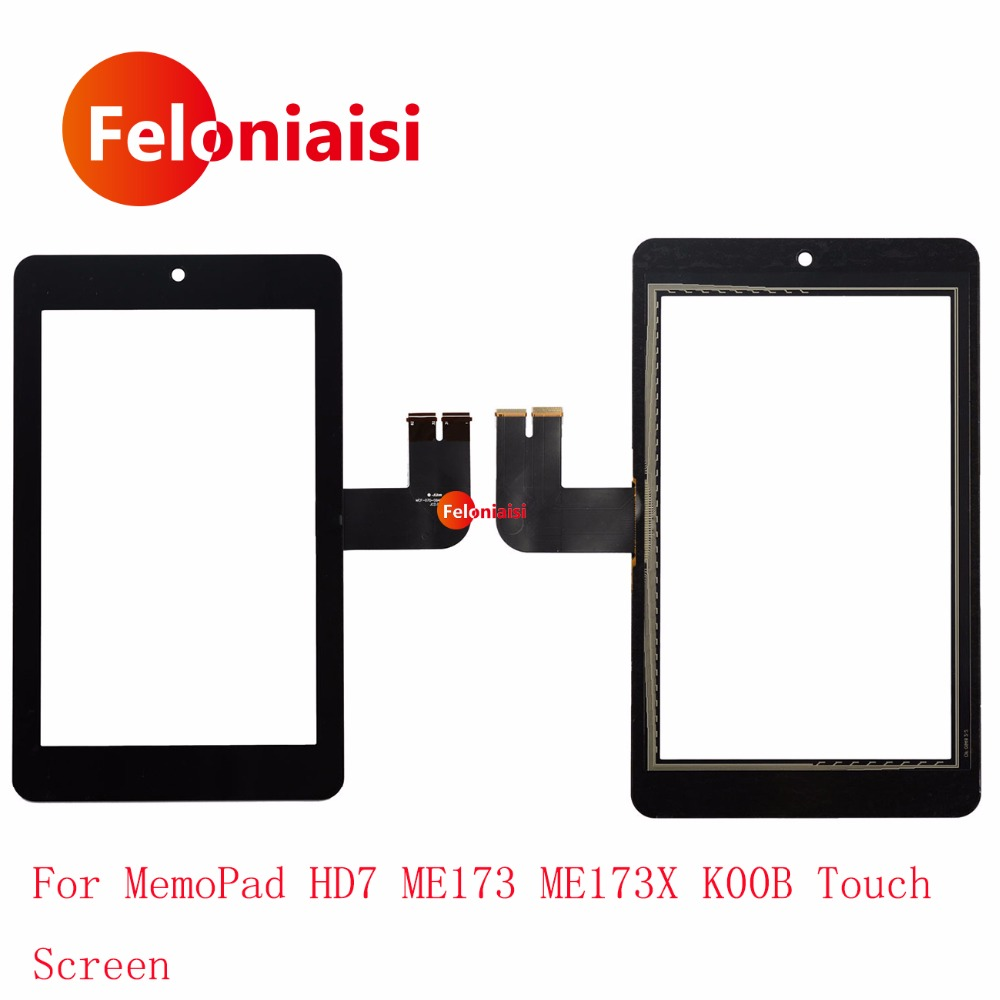 High Quality 7.0 For Asus MemoPad HD7 ME173 ME173X K00B Touch Screen Digitizer Sensor Outer Glass Lens Panel Black+Tracking