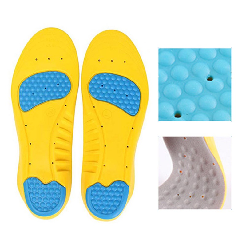 Adults Sports Comfortable PU Silicone Gel Sports Running Pads Massage Pain Support Shoes Insoles