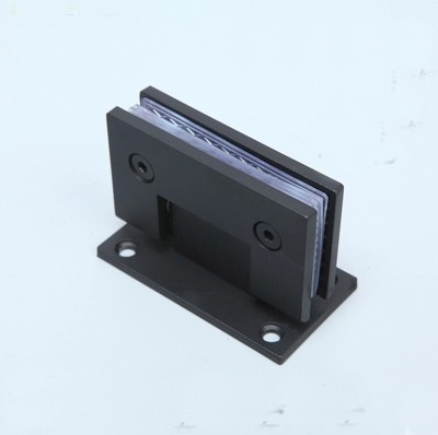 Glass door hinge,shower door hinge,stainless steel hinge(XYGL-06),black color,90 degrees