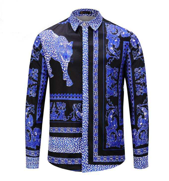 Luxury design Cotton Long Sleeve Men Dress shirt B6841
