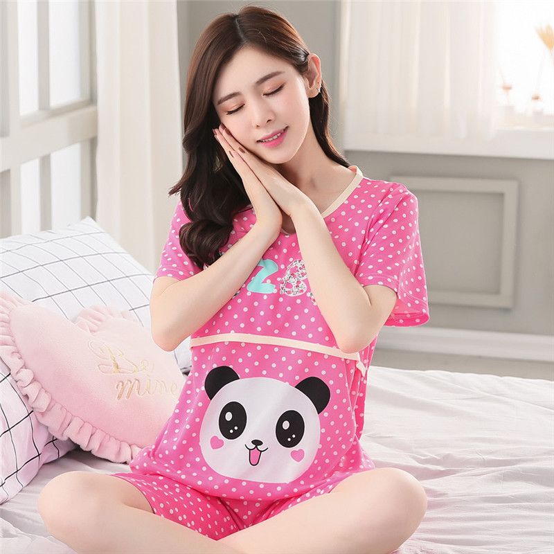 Maternity Pajamas 2018 new Summer Short Sleeve Breastfeeding Sleepwear Cotton Nursing Clothes For Pregnant Women OuterwearMaternity Pajamas 2018 new Summer Short Sleeve Breastfeeding Sleepwear Cotton Nursing Clothes For Pregnant Women Outerwear