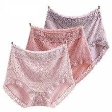 RUIN JS2 3PCS Womens Panties High Waist Hip Sexy Lace Underwears XL 4XL