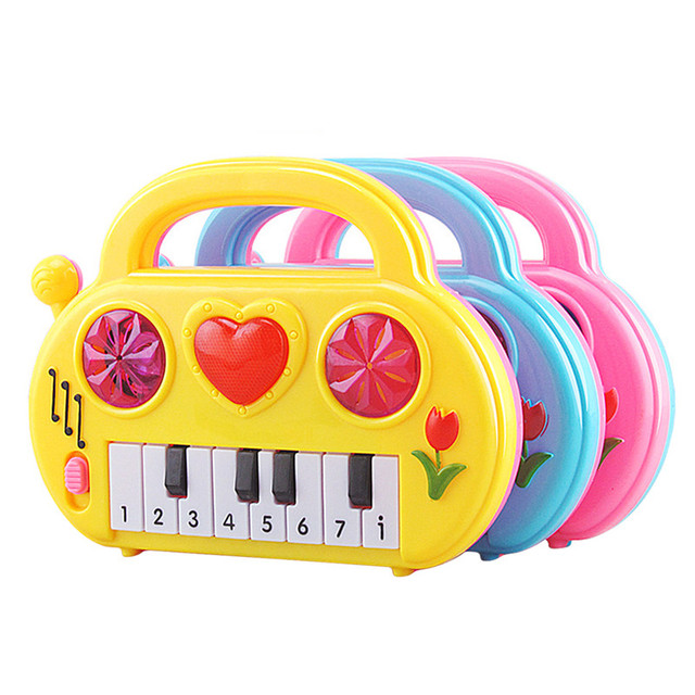Kids Music Musical Developmental Cute Piano Toy Sound Educational Toy Piano for Children Random Color