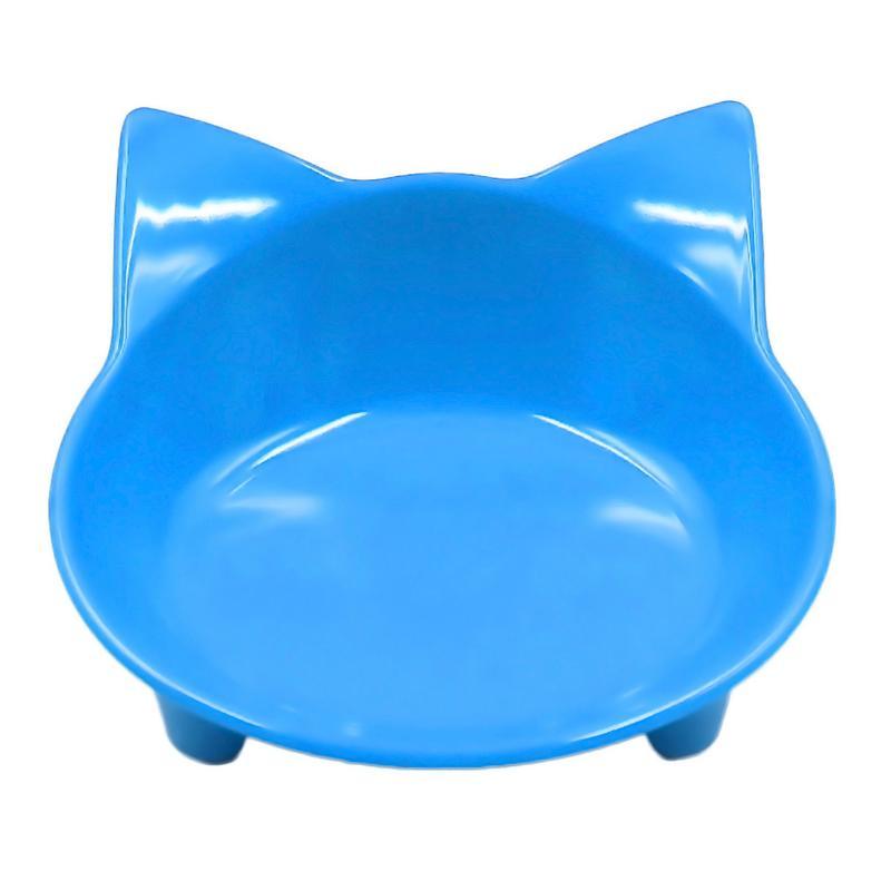 Автомобильная чаша, 8 цветов, кошачья форма, посуда для домашних питомцев, миска для домашних питомцев, кормушка для кошек и собак, посуда для маленьких собак, миска для воды, аксессуары для домашних животных - Цвет: Blue