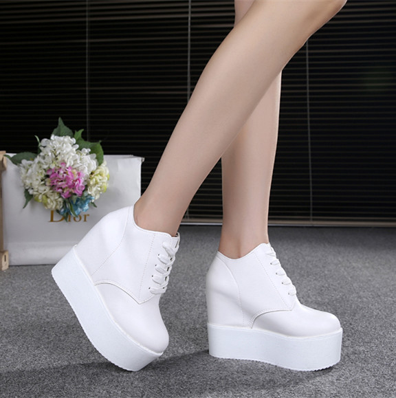 Spring and Autumn 2019 New 12CM Super High-heeled Single Shoe Waterproof Platform Thick-soled Muffin Cake Shoes with Increased T