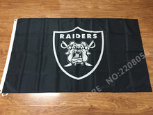 Oakland Raiders with bull dogs custom flags 90x150cm with 2 Metal Grommets 3x5ft