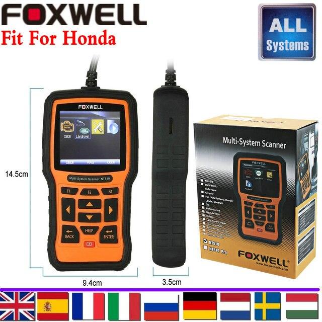 Scanner de carro para honda acura easydiag abs srs motor automotivo full-ajuste do sistema profissional de diagnóstico ferramenta foxwell nt510