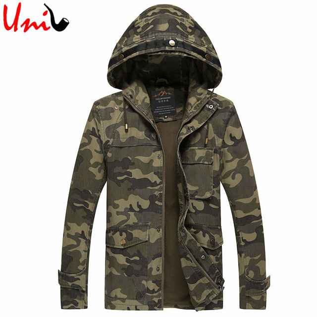 Mens Jackets 2016 New Arrival Classic Camouflage Army Cotton Casual Hooded Jacket Brand Clothing High Quality Male Outerwear S81