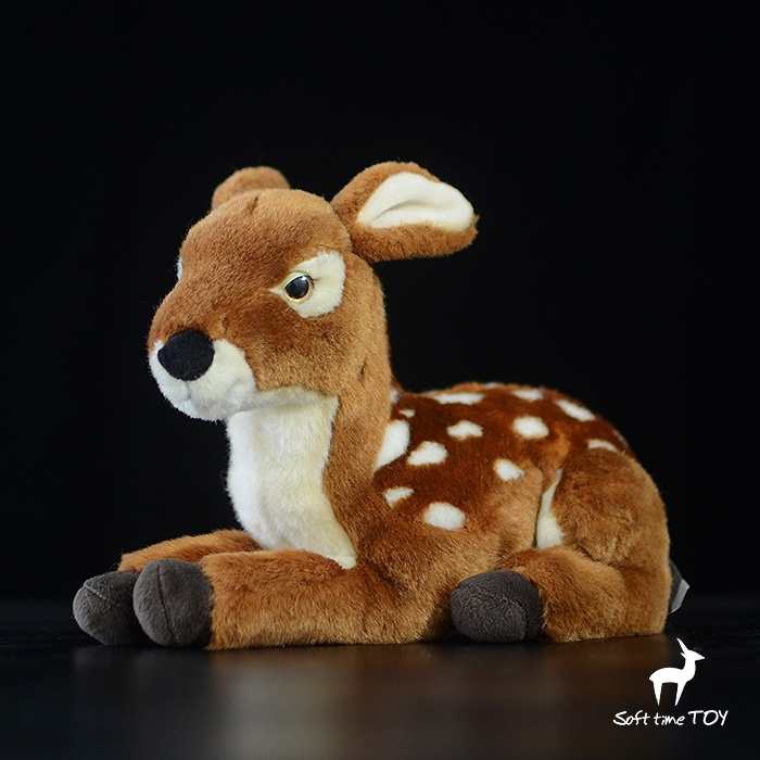 Christmas Gifts Children'S Toy  Deer Doll Plush Simulation Animal  Toys  Squatting Deer