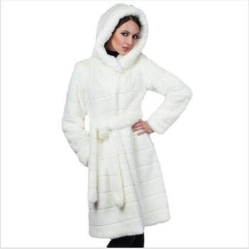 New woman fur 2019 90cm Plus Size Women Clothing 7XL Winter Artificial Economy Mink Fur Coat with a Hood Luxury Fake Fur Coats