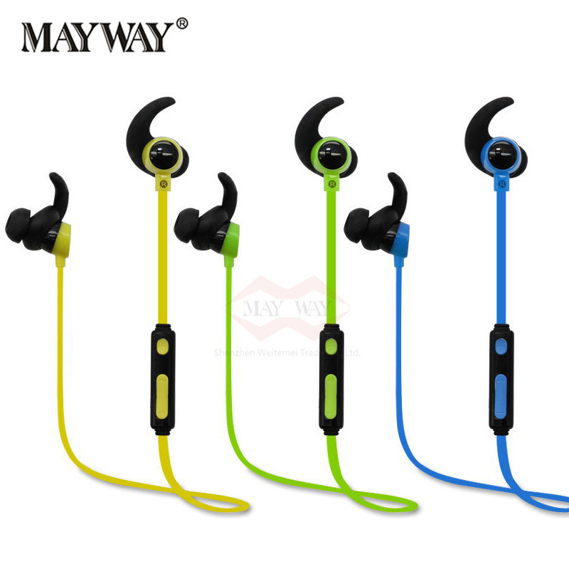 Universal Wireless 4.1 Bluetooth Earphone Sport Running HIFI Earbuds Music Stereo For iPhone 5 6 Samsung Xiaomi Mobile Phone you first noise canceling necklace earbuds business sport anti lost wireless bluetooth earphone for mobile phone iphone 4 5 6 7