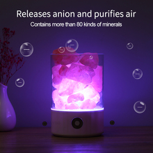 USB Himalayan Crystal Rock Salt Lamp Night Light LED Air Purifier Bedside creative gift decor lamp glowing attractive air purifying night lamp crystal himalayan natural salt rock night light night lamp tea lights candle holder