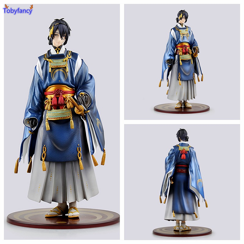 Tobyfancy Touken Ranbu Online Action Figures Mikazuki Munechika 1/8 Anime PVC 23CM Toy Japaness Figures Collection Model Toy touken ranbu online mikazuki munechika ichigo hitofuri q version 10cm nendoroid pvc action figures collectible model toys