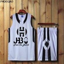 Men James Harden fear the beard Basketball Jersey top Uniforms 13 jersey  Sports clothing mesh Breathable b387f54d7