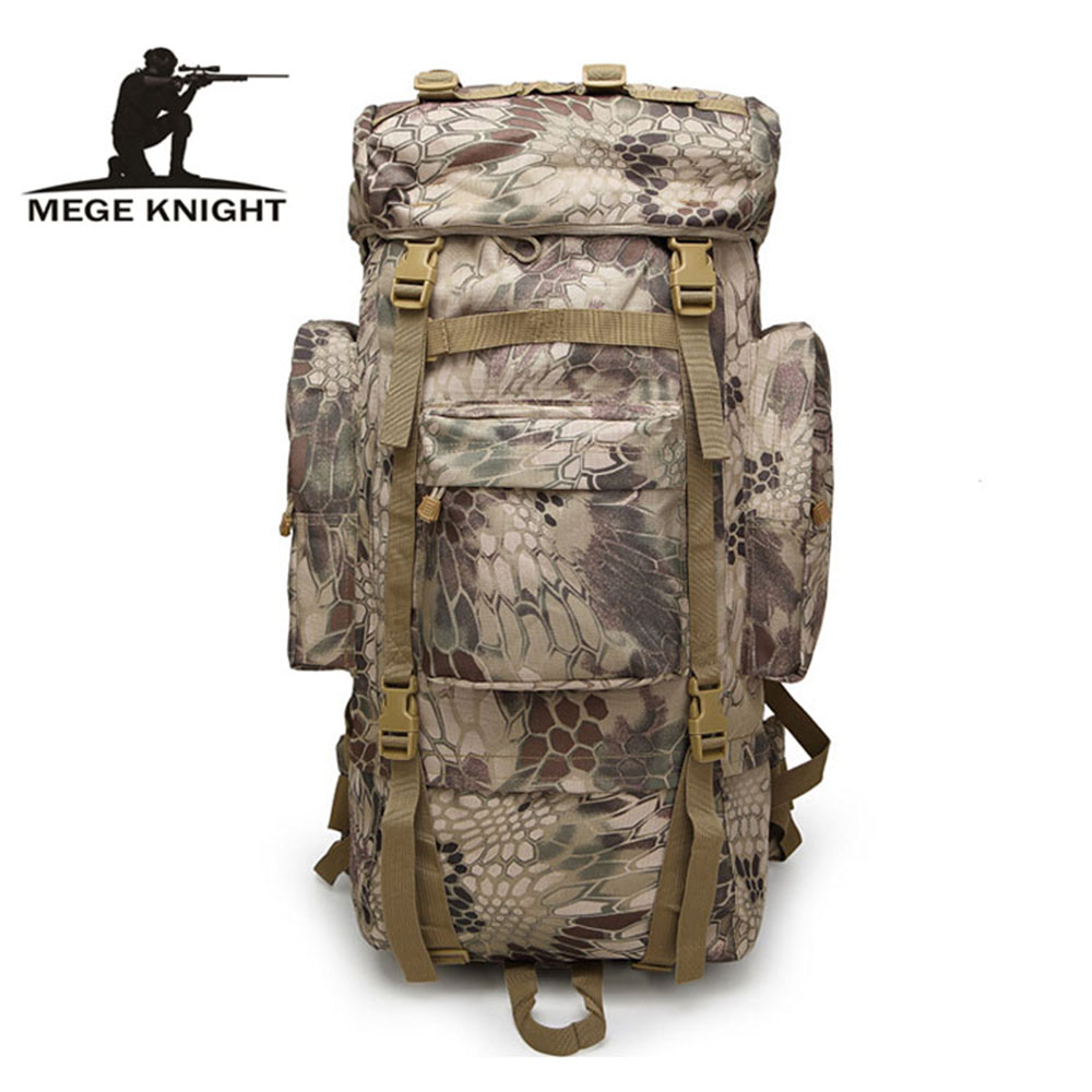 MEGE KNIGHT High-capacity tactical camouflage backpack outdoor sports backpack wear adjustable camping travel bag